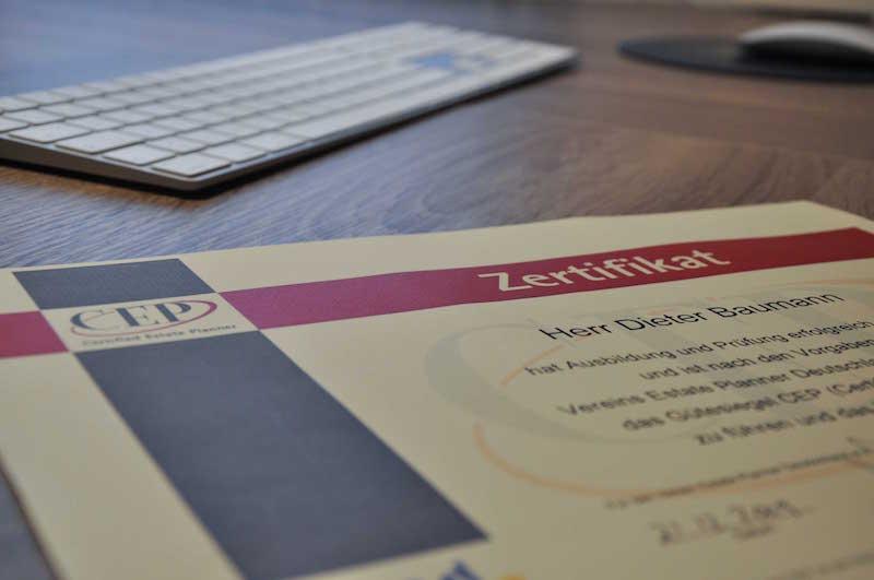 Certified Estate Planner Dieter Baumann