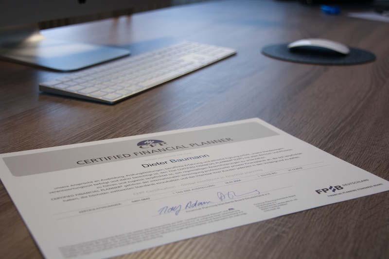 Certified Financial Planner Dieter Baumann